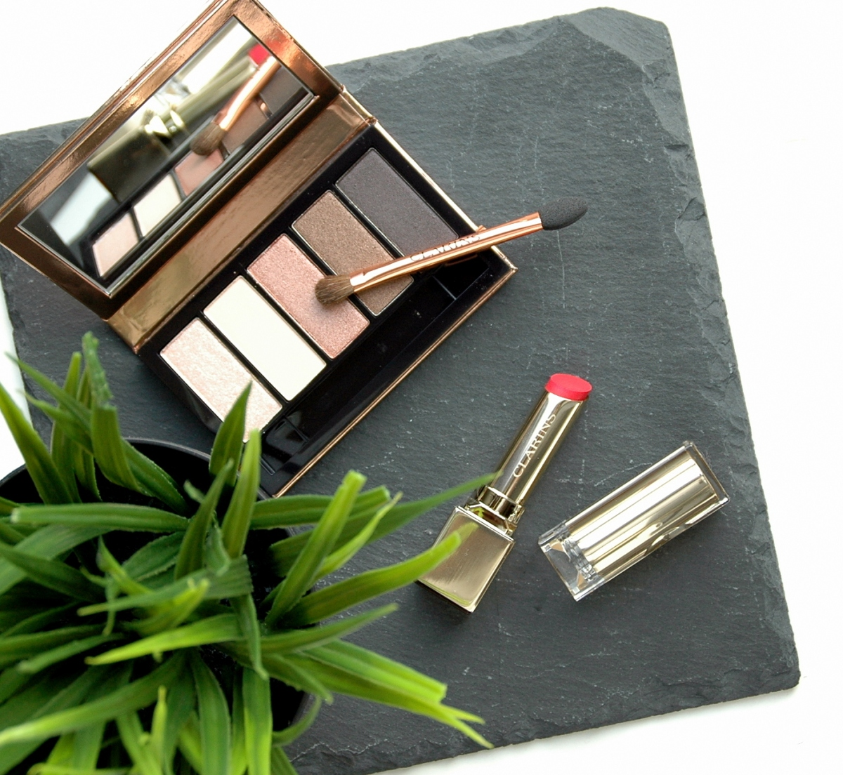 Clarins Instant Glow Spring Collection 2016 - Rouge Eclat Pink Cherry & 5 Couleurs Palette Naturel Glow